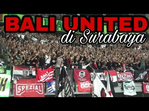 chant Rasa Eropa Super Berisik Bali United Fans di GOR Bung Tomo Sby | first Awaydays from Bali