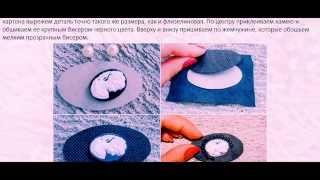 Бисероплетение Кулон из бисера с видео схемой плетения
