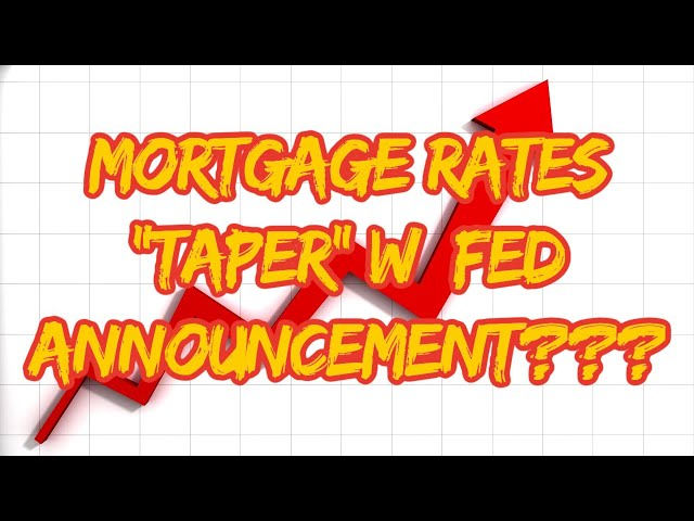 """Mortgage Rates """"Taper"""" w Fed Announcement???  Mortgage Refinance 
