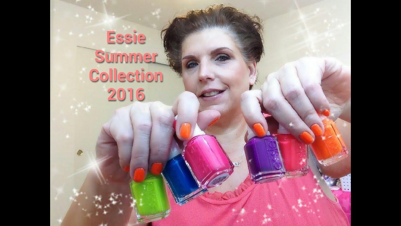 Nail Polish Haul   Essie Neon Collection 2016 - YouTube