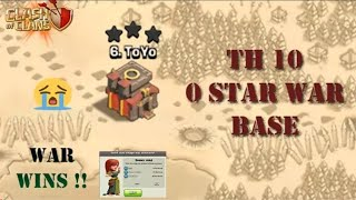 NEW TH 10 ANTI 2 STAR  & WAR BASE ANTI QUEENWALK & ANTI EVERYTHING BASE 2018 ! CLASH OF CLAN