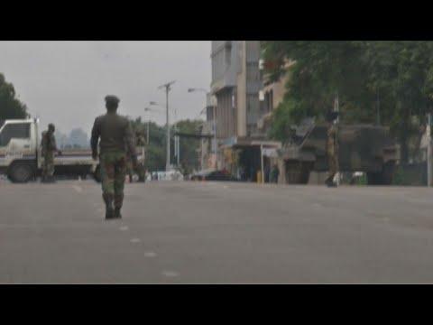 Zimbabwe: l'armée prend position dans les rues d'Harare