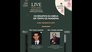 """Transmissão da Live do Instagram - """"Os Desafios da Igreja em Tempo de Pandemia"""""""