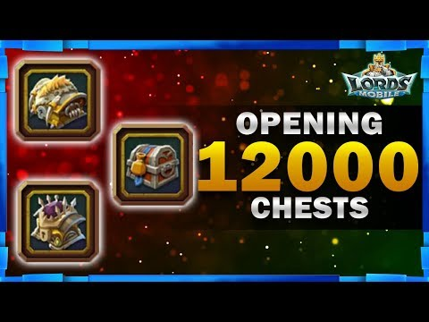 12K CHEST WITH AMAZING DROPS - LORDS MOBILE - MISTER BP GAMING