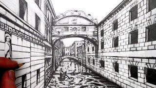 How to Draw using 1-Point Perspective: Draw a View of Venice