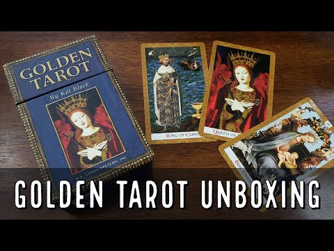 The Golden Tarot By Kat Black Unboxing
