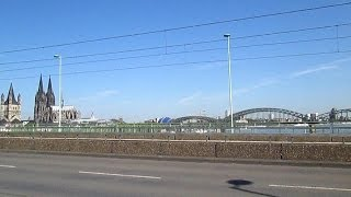 Германия  Кельн  Вид на город с моста через Рейн Кельнский собор  Cologne Cathedral, Germany(Добро пожаловать на мой канал! Не пропусти ничего интересного - ПОДПИСЫВАЙСЯ на мой канал и смотри новые..., 2014-05-20T09:38:31.000Z)