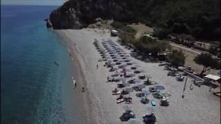 Tsabou beach, Samos island: A drone video