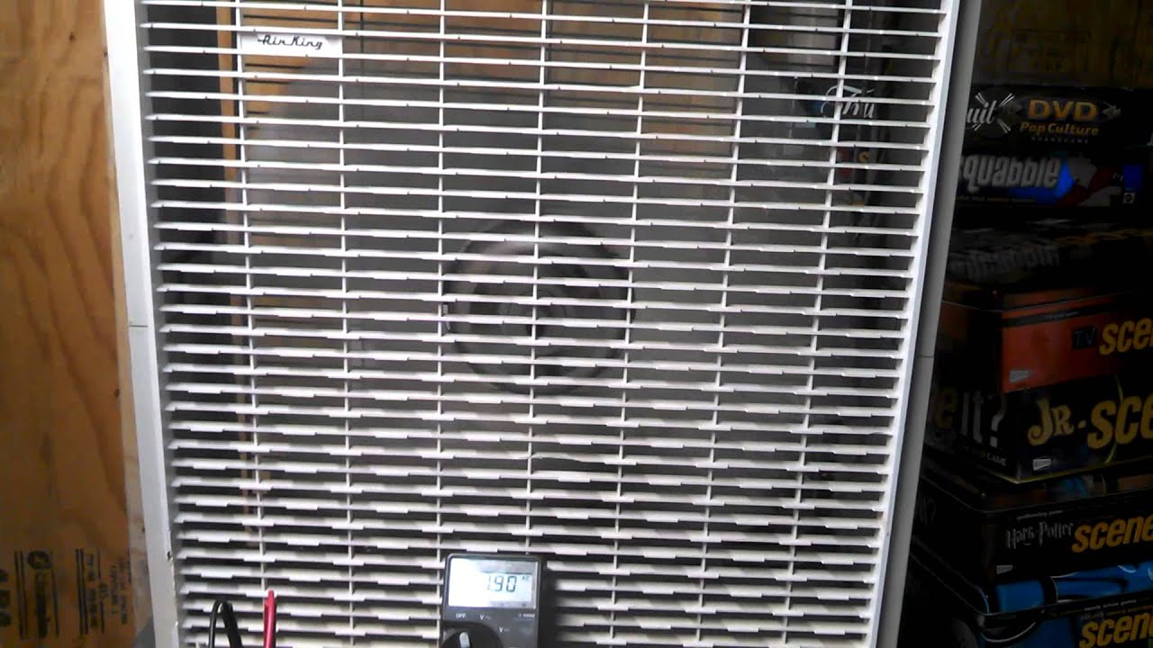 Box Fan Air King : Air king quot box fan with art deco style grill guard youtube