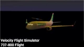 ROBLOX | Velocity 737 800 Flight