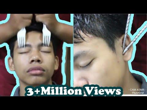 ASMR Relaxing Mixed Tools Head Massage