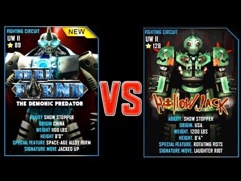 REAL STEEL WRB DARK FIEND VS Hollowjack New Robots GOLD UPDATE (Живая сталь)