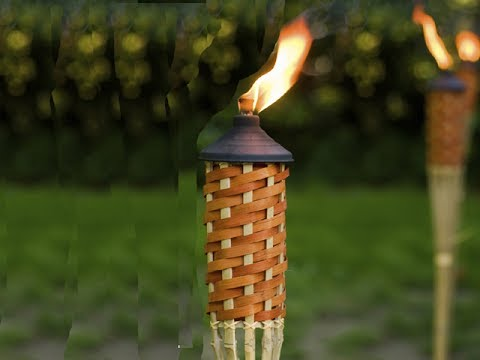 """The Proper Easy Way to Mount How Install Free Standing Tiki Torch with 2"""" PVC in Your Yard Backyard"""