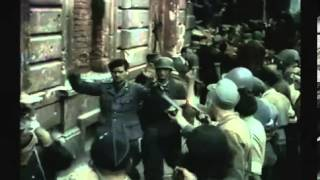 REMASTERED FOOTAGE Warsaw 1944 Uprising in colourWarsaw Uprising in colour