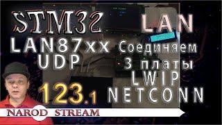 Программирование МК STM32. Урок 123. LAN87XX. LWIP. NETCONN. UDP. Соединяем три контролера. Часть 1