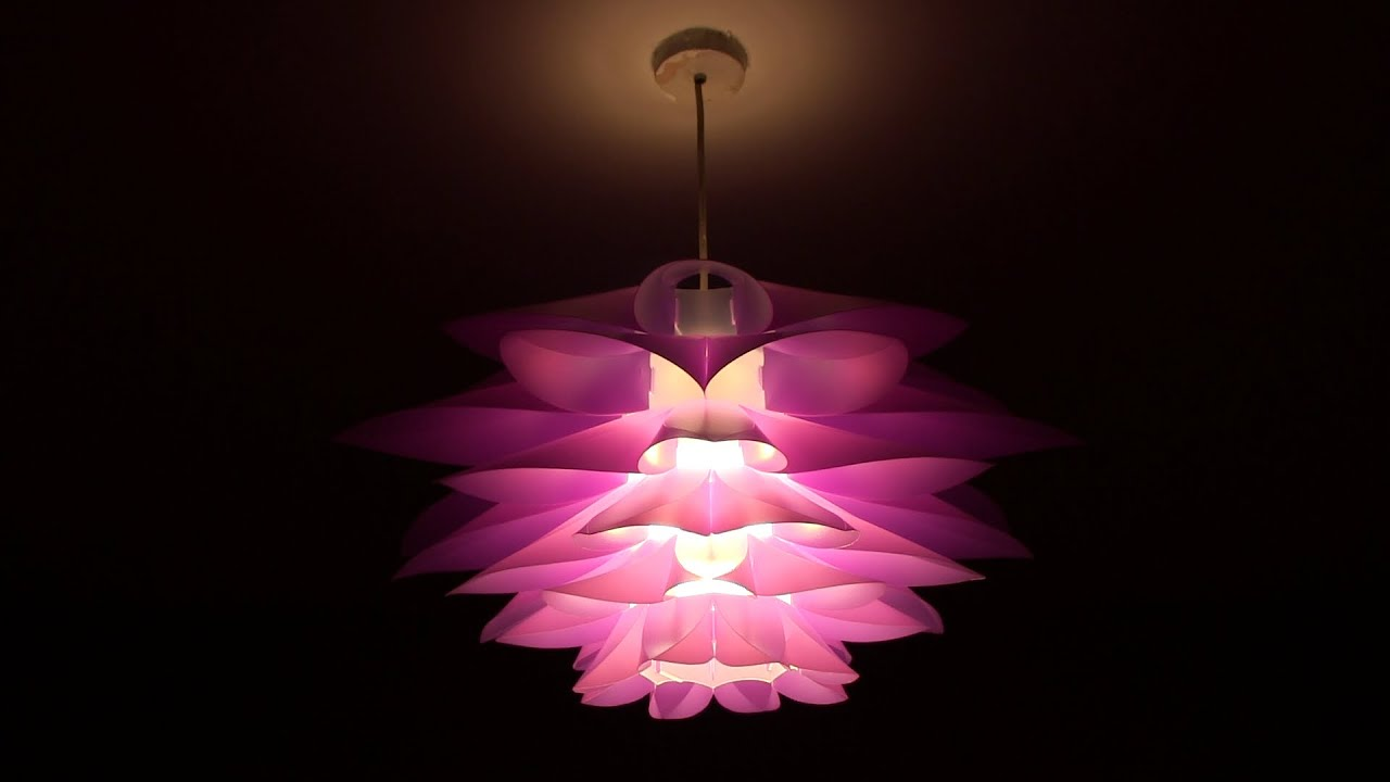 Chandelier Lamp Excelvan Diy Lotus Pendant Lamp Shade - Youtube