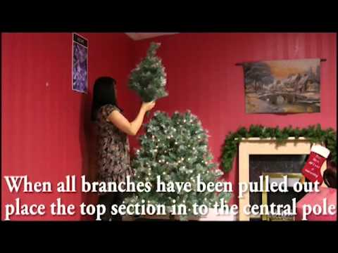 Branch Christmas Tree how to set up a hinged branch christmas tree.mp4 - youtube