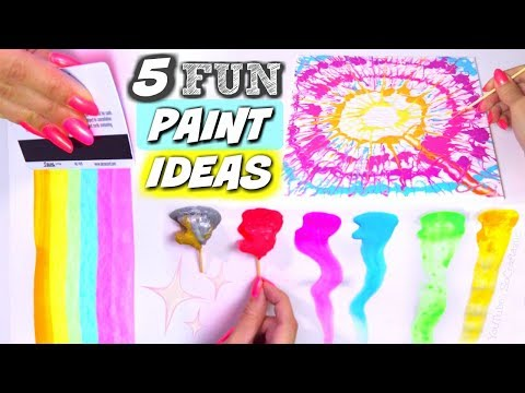 DIY ACRYLIC PAINTING TECHNIQUES - Fun Activities with Paint - How To | SoCraftastic