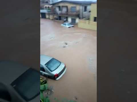 Heavy rainfall in Abeokuta Ogun State