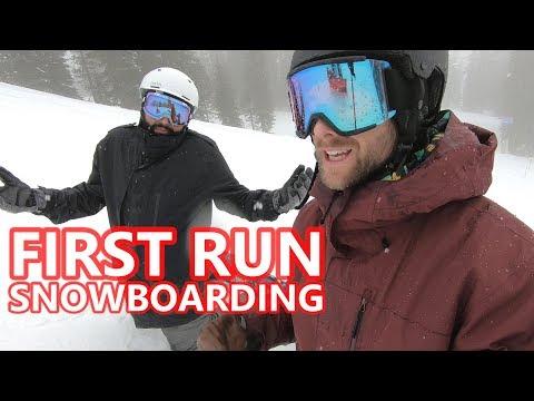 Beginner Snowboard Tips - First Run of the Season