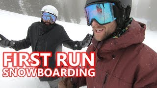 Beginner Snowboard Tips - First Run of the Season