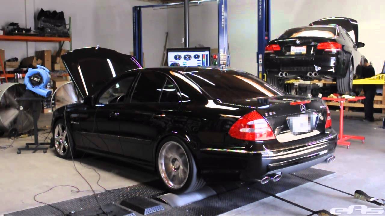2006 Mercedes-Benz E55 AMG Dyno - YouTube