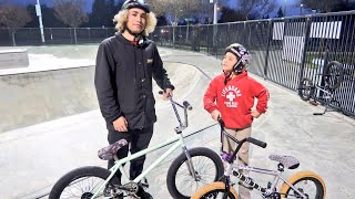 GAME OF BIKE VS AN 8 YEAR OLD STREET LORD! 2018