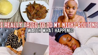 I tried to do my realistic night routine (And This is What Happened)
