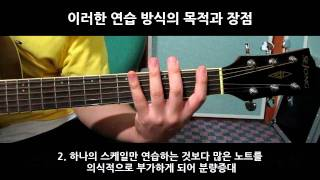 기타 스케일 연습방법 강좌 Scale Exercise method for Guitar on Fretboard