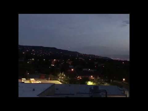 Strange lights over Salt Lake City Utah area mountain side. May 31, 2017