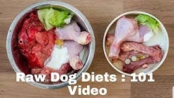 Raw Balanced Diet 101 : For Puppy's and Dog's. What most raw diets lack !