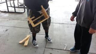 Nigga Wasn't Happy With His Wood Shop Project So..