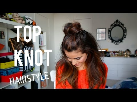 How To Create The Top Knot Half Down Hairstyle Easy Youtube