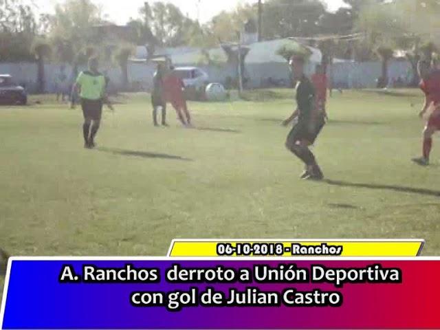 A Ranchos vencio a Union Dportiva 1 a 0 con gol de Julian Castro