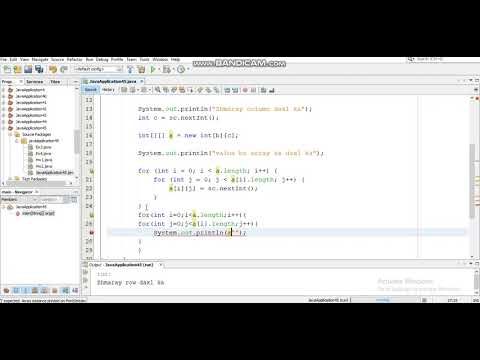 java-programming-tutorial--35--how-to-print-array-two-dimensional-values