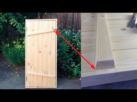 ✅ Клиновая дверь своими руками Door By Old Technologies Brettertür Diy
