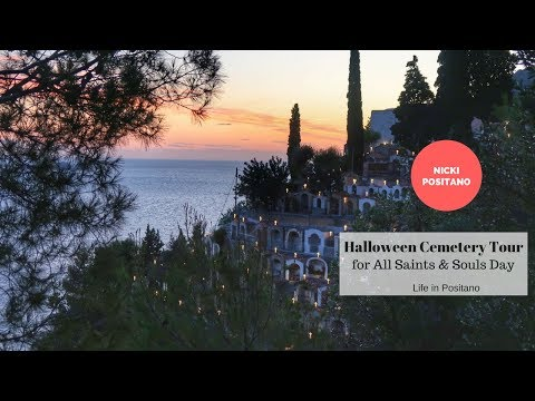 Positano Halloween Cemetery Tour - for All Saints and Souls Day