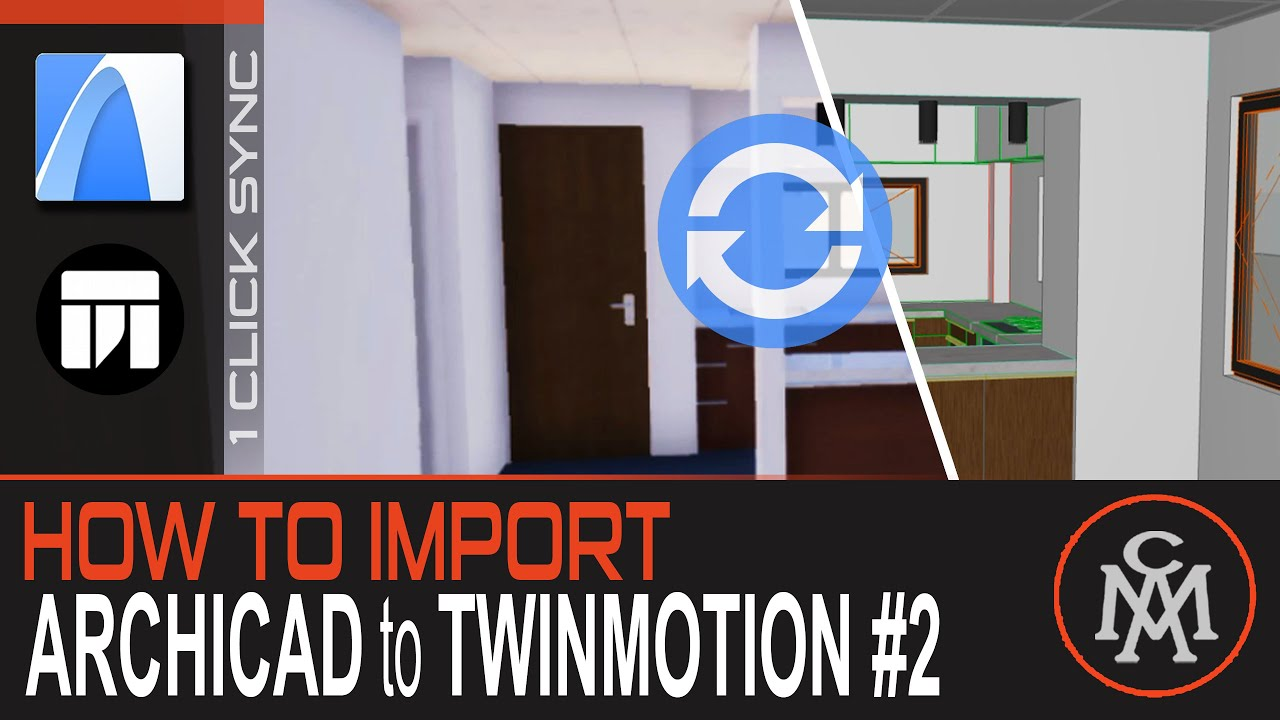 How to Import Archicad to Twinmotion #2 | [1 CLICK] EASY SYNCHRONIZE