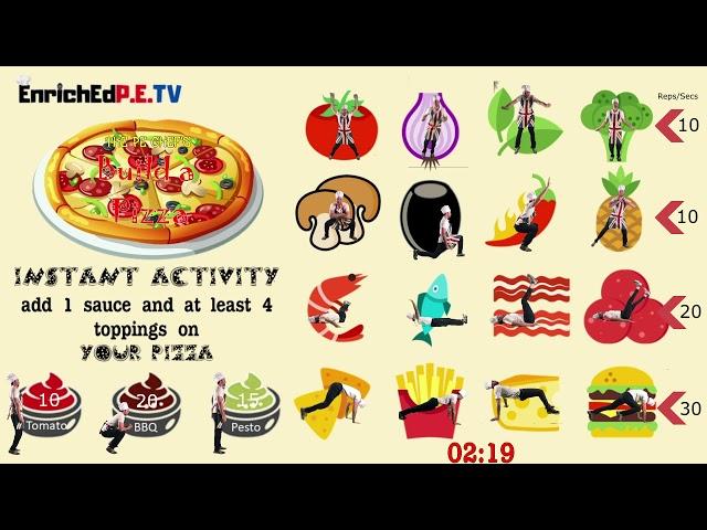 PE Chef S11E2: 🍕Build a Pizza🍕 - Instant Activity // Do Now