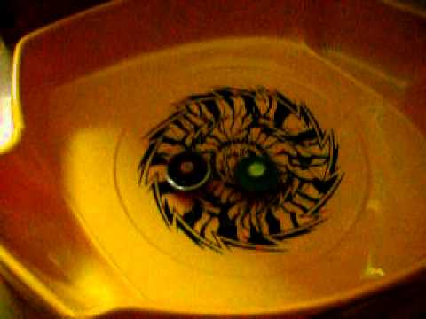 Beyblade Metal Fusion - Metal Fight Beyblade - Test Match 4 - Dark Wolf H145FS Vs Rock Leone ED145WB