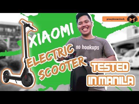 Electric Scooter In The Roads Of MANILA - XIAOMI M365