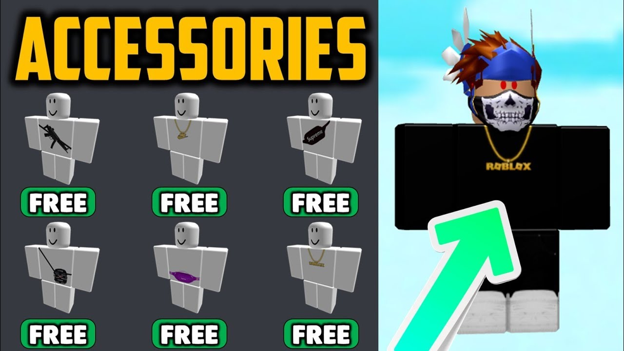 How To Get Free Chains Bags Items On Roblox Youtube