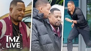 Will Smith & Martin Lawrence Filming 'Bad Boys 3' | TMZ Live