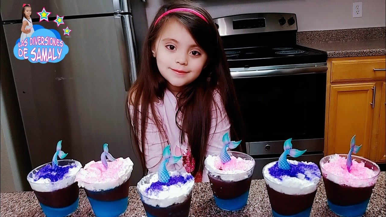 MAGICAL MERMAID Gelatin cups kit/ kit de copas con gelatinas de sirenas mágicas