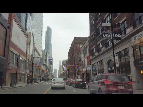 Toronto, Canada - Driving on Yonge Street from Lakeshore to Eglinton