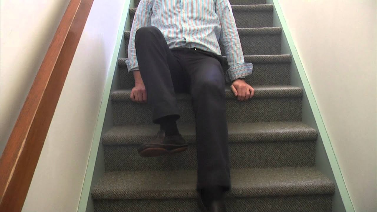 How To Negotiate Stairs On Your Bottom Youtube