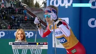 Лыжные гонки Кубок мира Ски Тур 2020 ЖЕНЩИНЫ 10 КМ СВОБОДНЫЙ СТИЛЬ гонка с раздельного старта