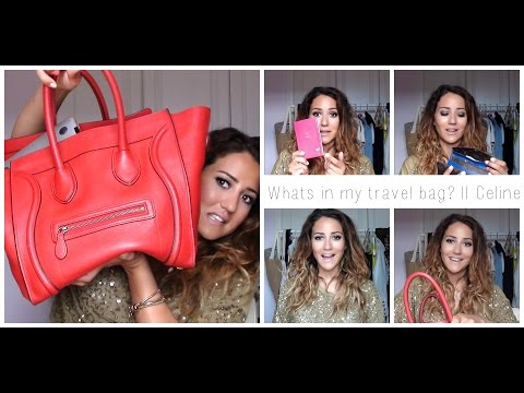 Whats in my travel bag || Celine Mini Luggage Tote