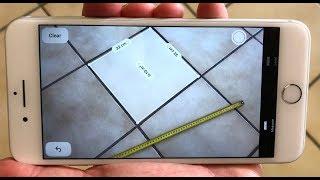 """Test et démo appli """"Measure"""" ajoutée à iOS 12 : l'iPhone mesure en Réalité Augmentée !"""