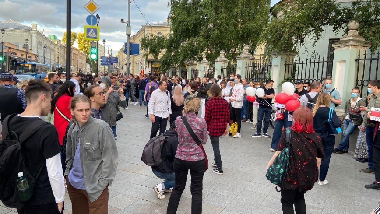 Протесты у посольства Республики Беларусь в Москве против Лукашенко.Провокации / LIVE 11.08.20
